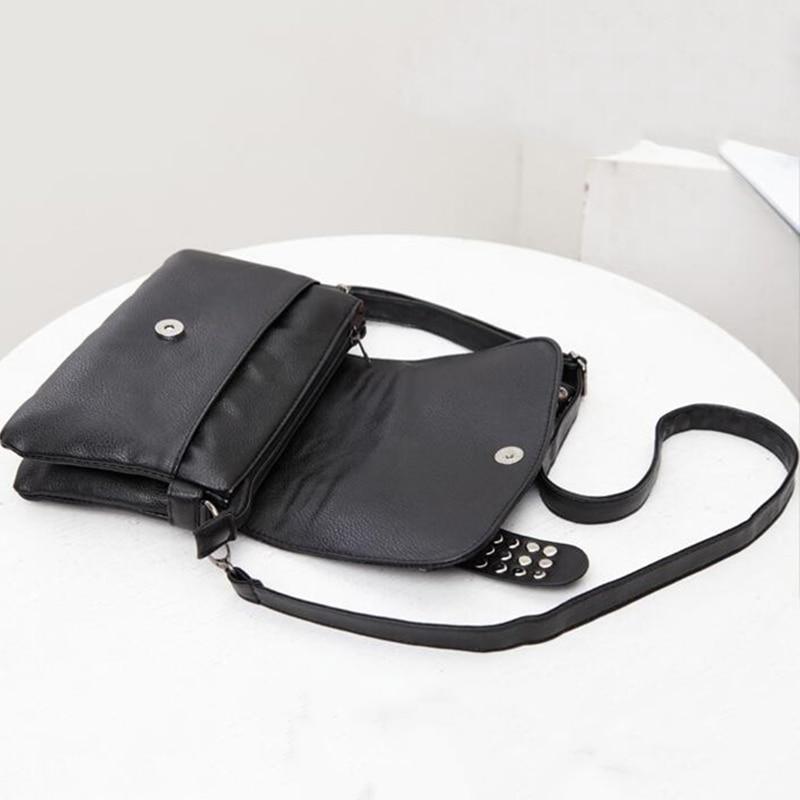 Image 5 - DIINOVIVO 2020 New Rivet Women Bag PU Leather Shoulder Bags Skull Bag Punk Crossbody Bags For Women Chain Messenger Bag WHDV0934Shoulder Bags   -