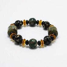 Wonlife High Quality Tradition Tianzhu Buddha Bracelets Stone Crystal  Beads Elasticity Rope Men Women Bracelet