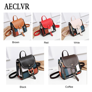 Image 5 - AECLVR Women Backpack Designer High Quality PU Leather Female Bag Fashion School Bags Large Capacity Backpacks Travel Bags