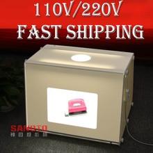 Freies Verschiffen durch DHL SANOTO Tragbare Mini Fotostudio Fotografie Licht Box Foto Box MK40 Softbox Für 220/110 V
