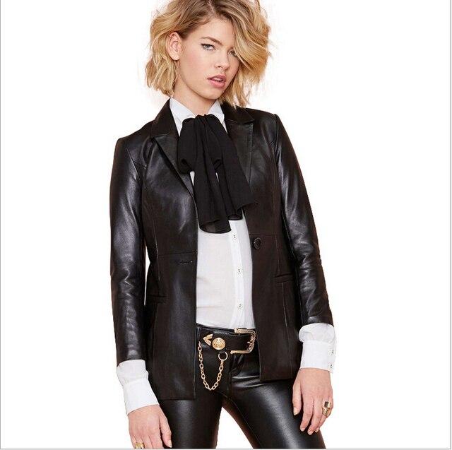 a83b2ed52e8 Boyfriend Style New Woman Leather Jacket Brand Leather Suit Coat Plus Size  Handsome Fashion women motorcycle jacket Size XS-2XL