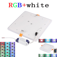 RNEW Ultra Thin LED Down Light Lamp 6W 9W 18W 24W Dual Color LED Panel Light RGB Slim Square LED Panel Light for Home for toshiba l450 l450d l455 laptop motherboard gl40 ddr3 k000093580 la 5822p 100% tested