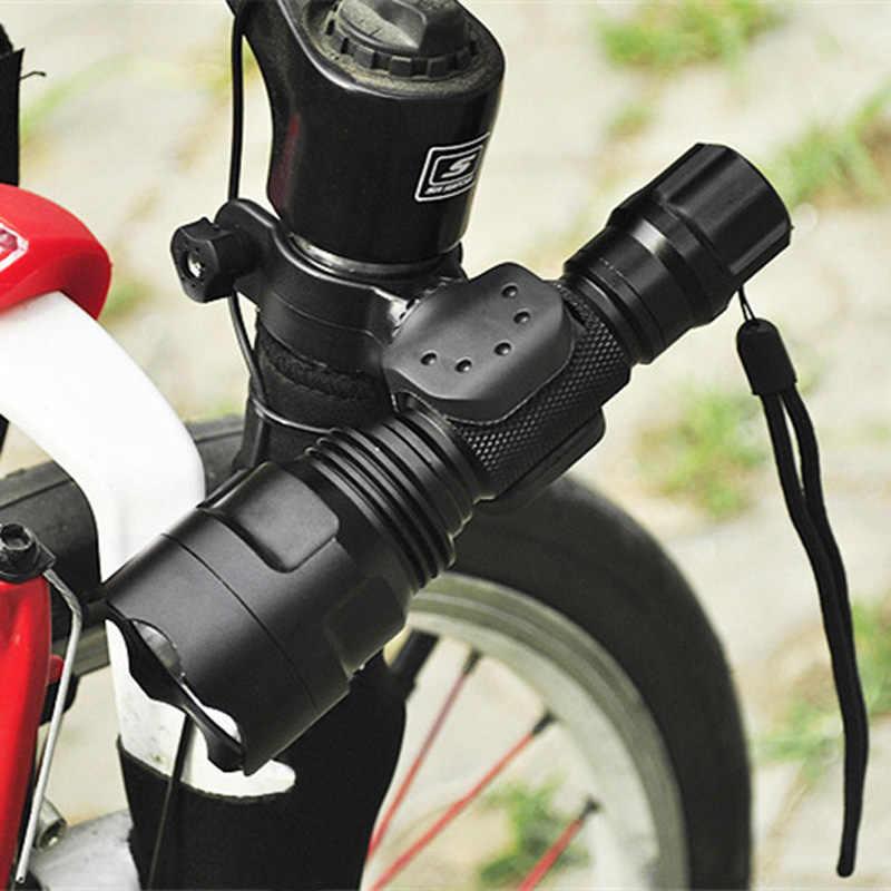 אוניברסלי אופני פנס LED לפיד הר קליפ 360 תואר סיבוב רכיבה על אופניים קליפ מהדק אופניים אור מחזיק YS-BUY