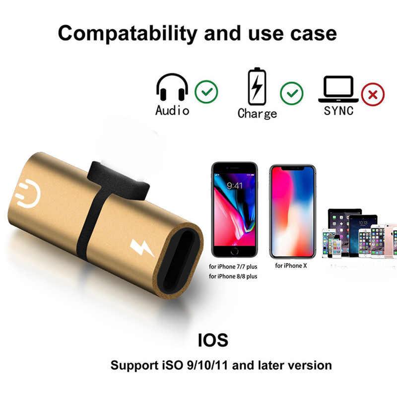 Voor Verlichting Adapter Dual Jack Audio Opladen Hoofdtelefoon Kabel Charger Splitter Hoofdtelefoon Adapter Voor iPhone 8 7 Plus X IOS 12.2