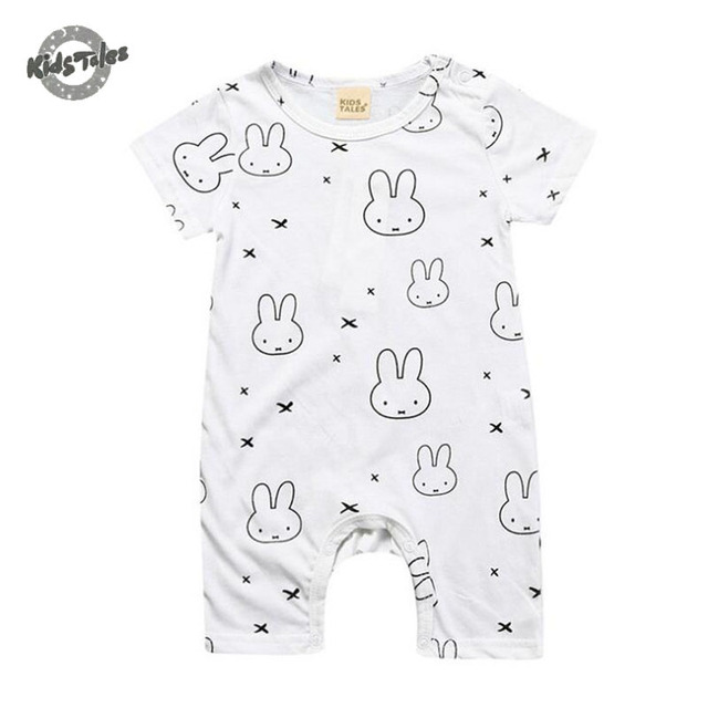 a36e6d0ad Kids Tales Infant Baby Clothing Cotton Baby Romper Short Sleeve ...
