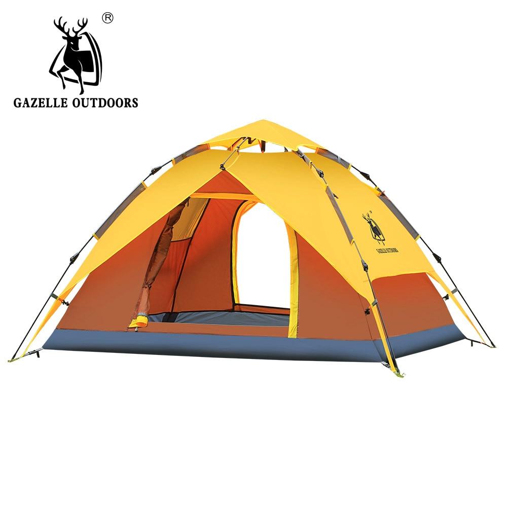 Hydraulic Pressure Camping Tent, 3-4 Person Quick Automatic Open Tent, 200x180x130cm 3-4 Person arko men пена для бритья sensitive 200мл
