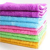 10 шт. натуральная ткань для мытья посуды из бамбукового волокна, ткань для чистки кухни, Волшебная салфетка для мытья кухни