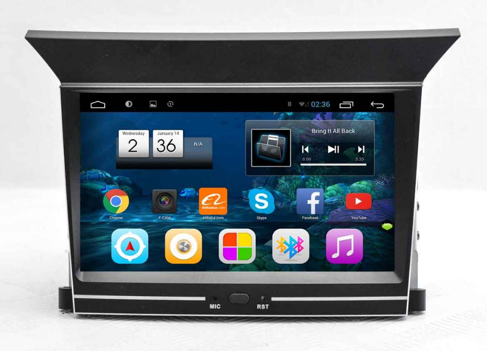"Quad Core 7"" Android 4.4 1024X600 Car Radio Head unit GPS Navigation Multimedia for Honda Pilot 2009 2010 2011 2012 2013 WIF 3G"