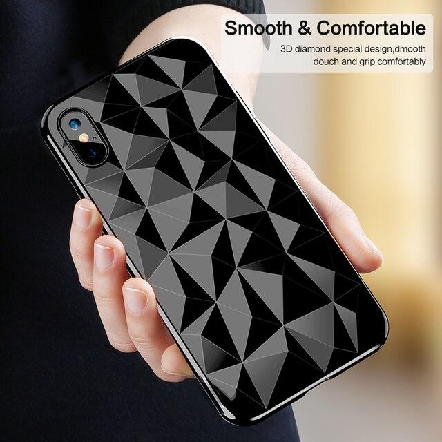save off 54c33 0c1c2 US $1.79 45% OFF Case For iPhone X Xr XS Max 8 7 Plus 6S Cover 3D Diamond  Skin Slim TPU Case For Samsung Note 9 Note 8 S8 S9 Plus P20 Lite MI6X-in ...