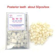 все цены на 50pcs Dental Temporary Tooth Crown Posterior Teeth Crown Resin Dentistry Lab Material Dentist Tools онлайн