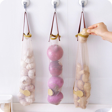 100PCS / LOT Creative Hangable Fruit Vegetable Net Bag Portable Kitchen Multifunctional Bag Reusable Breathable Garlic Onion Ba