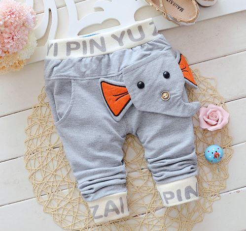 2016 Neue Frühling & Herbst Baby Hosen Baumwolle Elefant Stil Baby Jungen Mädchen Hosen 1 Stück 0-2 Jahr Kinder Hosen Freizeithosen
