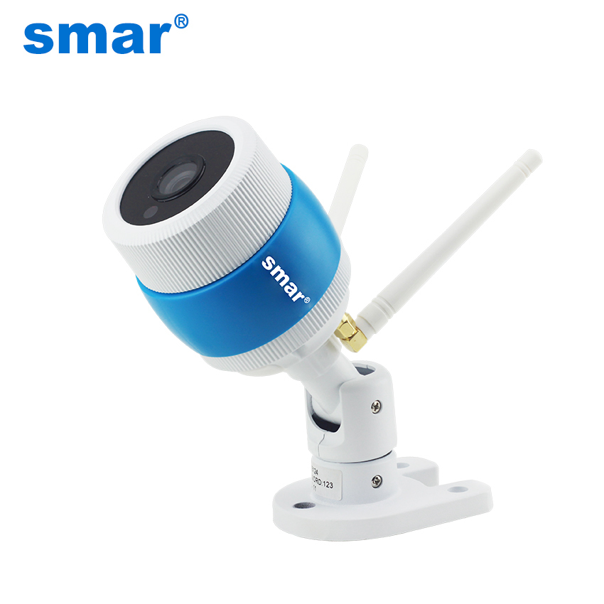Smar 720P/960P Wireless Outdoor Bullet IP Camera Waterproof WIFI CCTV Security TF Card Slot Yoosee APP Double antenna Metal wistino 1080p 960p wifi bullet ip camera yoosee outdoor street waterproof cctv wireless network surverillance support onvif