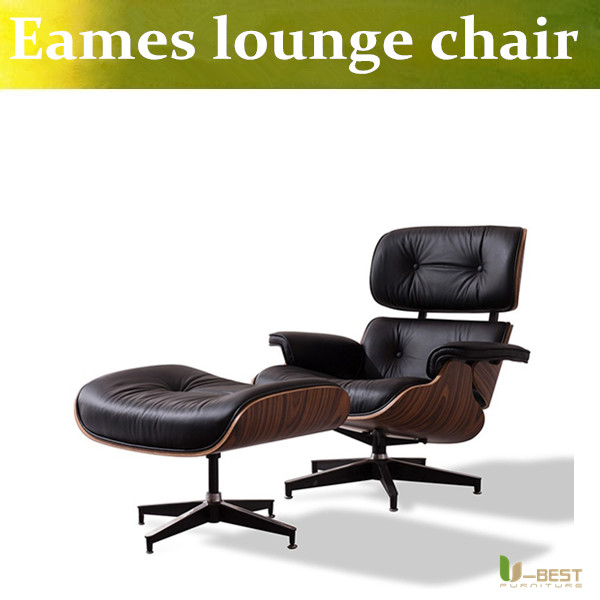 U-BEST The emperor lunch lounge chair  recliner chair ,boss replica Genuine black leather lounge chair &ottoman american leather the boss chair turn new classic chair