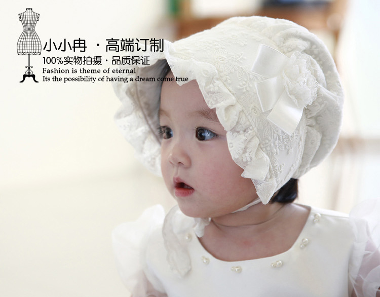 a28f2ea668203 Baby Girls Bonnets Patterns Spring Summer Hats Caps Baby s White Pink Black  Bonnets Bonnet BABY EASTER BONNETS FOR BABIES-in Hats   Caps from Mother    Kids ...