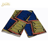 YANTEX 2018 Girls Spring Clothes Ankara Fabric Veritable Super Wax Hollandais African Fashion Print Fabric 6