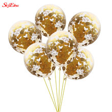Rose Gold Happy Birthday Balloons Latex Confetti Balloon Wedding Decoration Ballon Event Party Supplies 5zSH925(China)