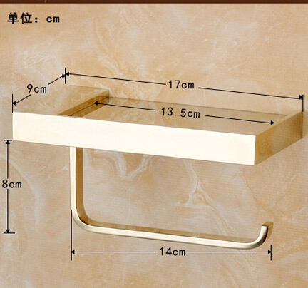 fashion Toilet Paper Holder,Roll Holder,Tissue Holder,Solid Brass gold Finished-Bathroom Accessories Products