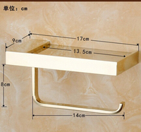 fashion Toilet Paper Holder,Roll Holder,Tissue Holder,Solid Brass gold Finished Bathroom Accessories Products