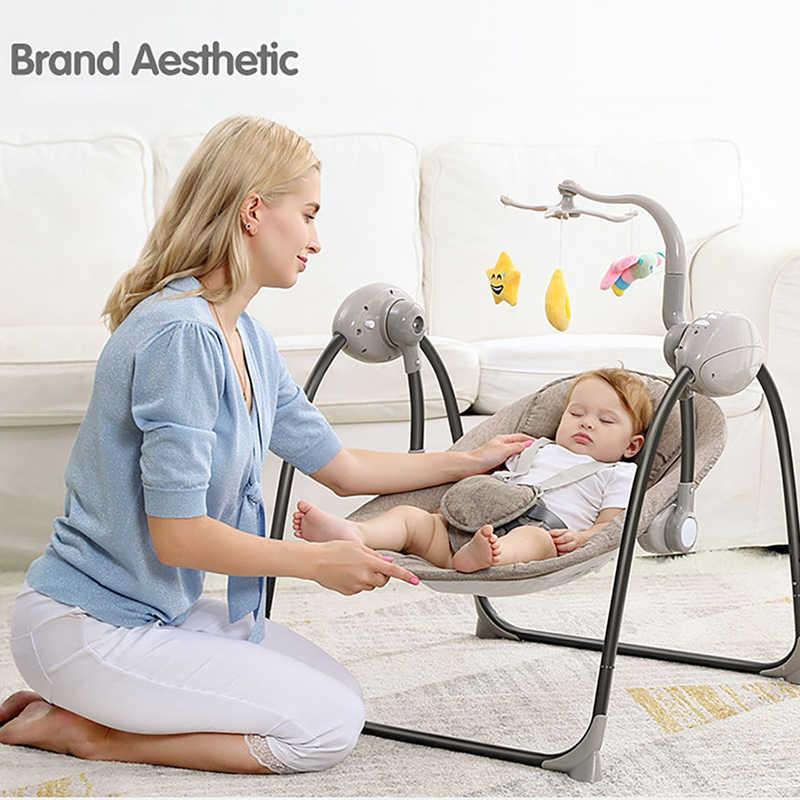 Детское кресло-качалка IMBABY, детские качели, электрическая детская колыбель с пультом дистанционного управления, кресло-качалка для новорожденных, кресло-качалка
