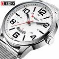 Reloj Hombre 2016 Curren Relógios Homens Marca de Luxo de Quartzo-Relógio do Esporte Dos Homens Relógios À Prova D' Água Homem Vestido Relógio Relogio Masculino