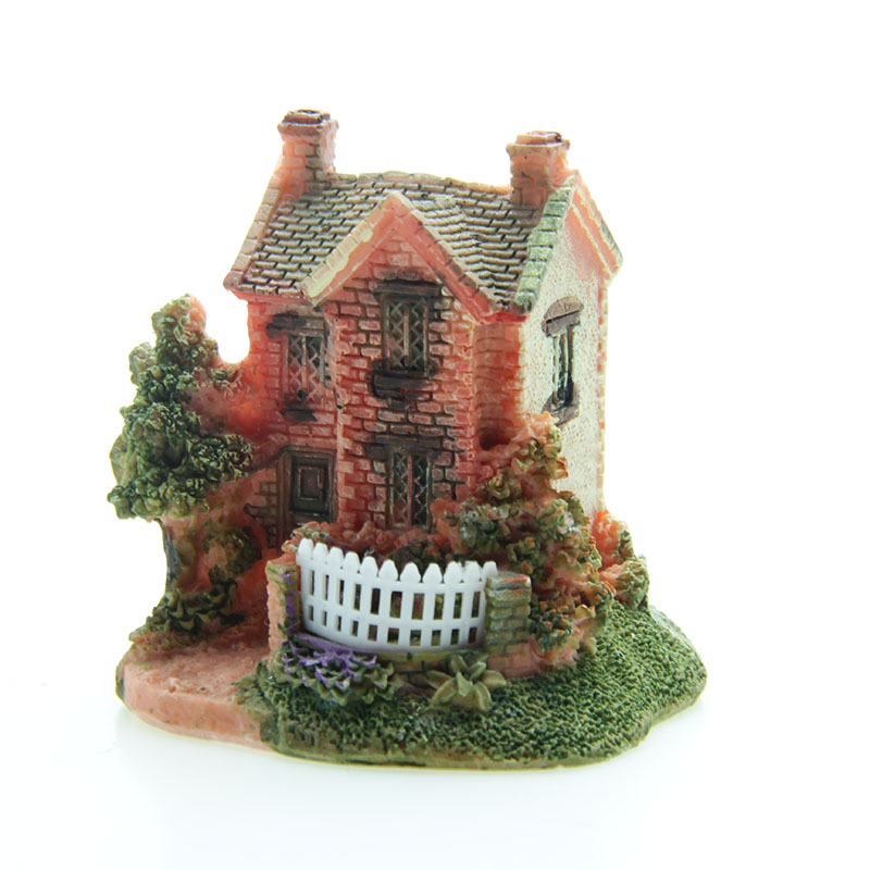 Artificial Mini Micro Landscape House Resin Crafts Fairy Garden Decoration Home Miniature Garden Decoration Accessories