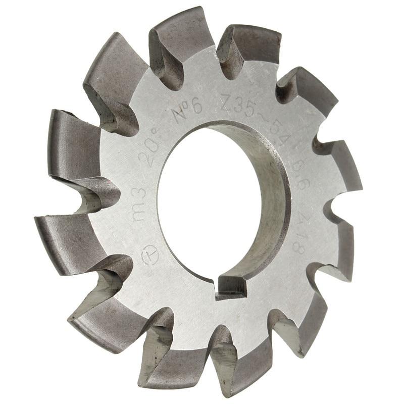 Wholesale Price Diameter 22mm M3 20 Degree #6 Involute Gear Cutters HSS High Speed Steel Module HOT Machine Tools Accessories  цены