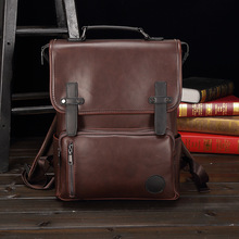Brand Men Backpack Leather School Bag Fashion Waterproof Travel Casual Book bag Male