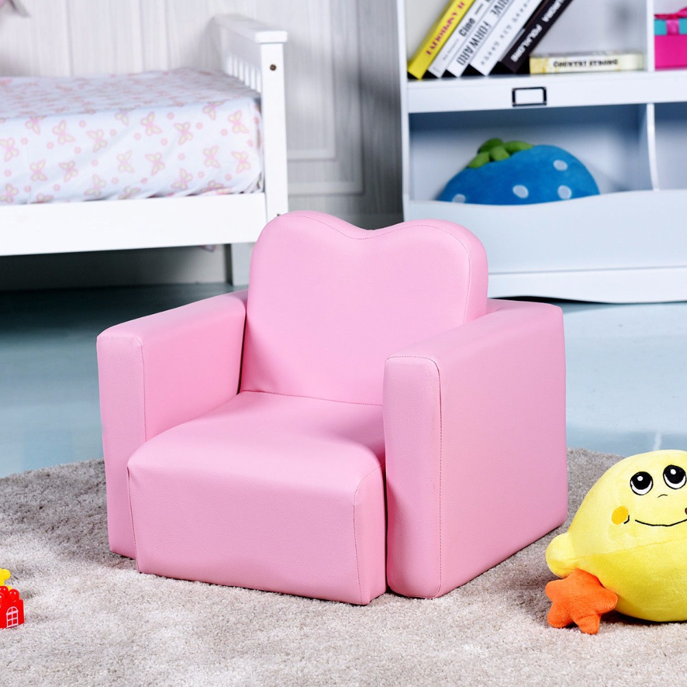 Giantex Multi-functional Kids Armchair Sofa Table Chair Set Gift Living Room Boys Girls HW58619BL