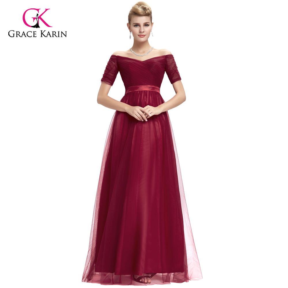 Burgundy and Black Prom Dresses