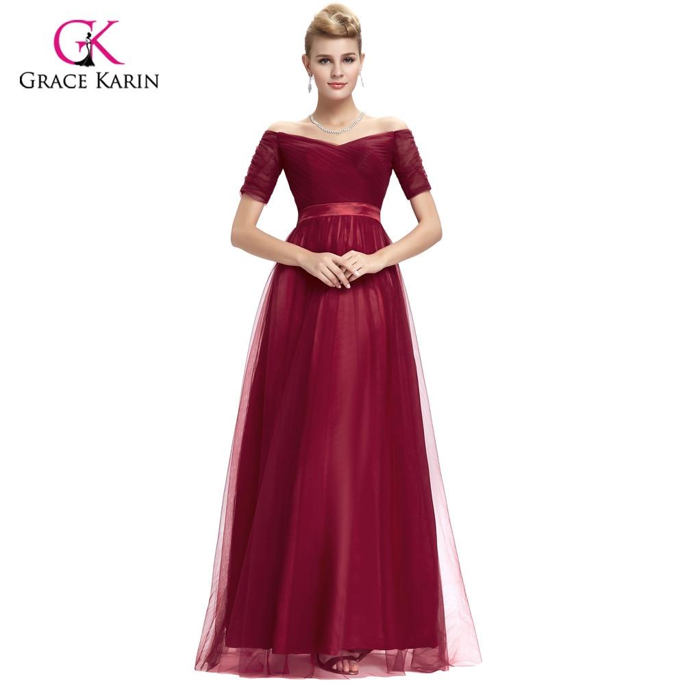 Burgundy Prom Dress 2018 Grace Karin Black