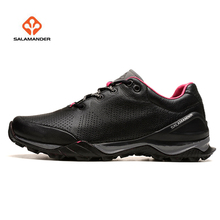 SALAMANDER Women's Leather Outdoor Hiking Trekking Sneakers Shoes For Women Sport Climbing Mountain Shoes Sneakers Woman