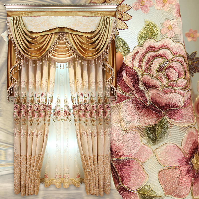 Bedroom With Cathedral Ceiling Gold Curtains Bedroom Master Bedroom Carpet Trends Bedroom Designs Tumblr: Aliexpress.com : Buy Custom Curtains High Class European