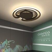 Işıklar ve Aydınlatma'ten Tavan Işıkları'de Siyah/Beyaz Modern LED Tavan Işıkları Yatak Odası Başucu Koridor Balkon Mutfak Iç Ev Dekor Tavan lamba aksesuarı AC90 260V