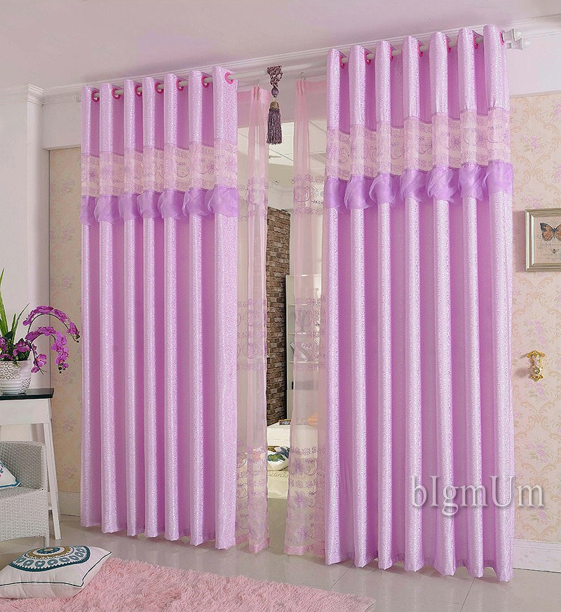 Luxury Lace Wedding Curtains For Living Room Bedroom Hotel Luxury Window Treatment Pink