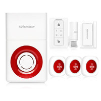 KOOCHUWAH Wireless GSM House Alarm Burglar Alarm System Voice Alert Anti Theft Security Alarm Siren SIM Card Auto Dail 130db