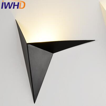 IWHD Iron Modern Wall Sconces Luminaire On the Wall Lamp LED Bedroom Stair Lighting Fixtures Arandela para Parede Arandela