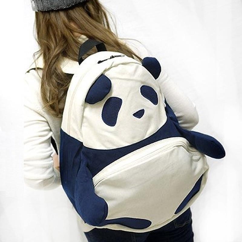 일본 스타일 2 색 팬더 가방 여자 여자 학생 키즈 가방 귀여운 선물 Shoolbag
