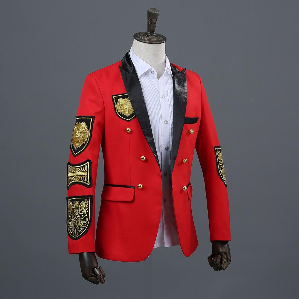 L'armée Costumes Petit Robe À rouge Costume Hommes Automne Médaille Double De Boutonnage Coréenne Noir zRxp6Pwq