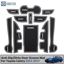 Anti-Slip Mat For Toyota Camry 2012-2017 7 Gen XV50 Altis Aurion 50 MK7 Gate Slot Coaster Anti-Dirty Door Groove