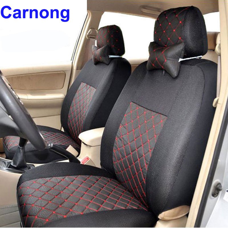 Carnong car seat cover universal for hatchback or sedan car 5 seater 4/5 headrests rear support cover split 40/60 or not covers ...