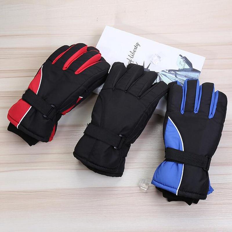 2017 New Winter Outdoor Sports Skiing Gloves Men Riding Plush Keep Warm Knitting Tactics Mens Cycling Windproof Ski Gloves L38