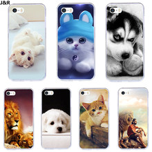 J & R Colorido Bonito Capa Para iPhone 5 7 Case Para iPhone 4 4S 5S 5C SE 6 6 s 7 8 Plus X XR XS MAX Silicone Casos de Telefone Animais(China)