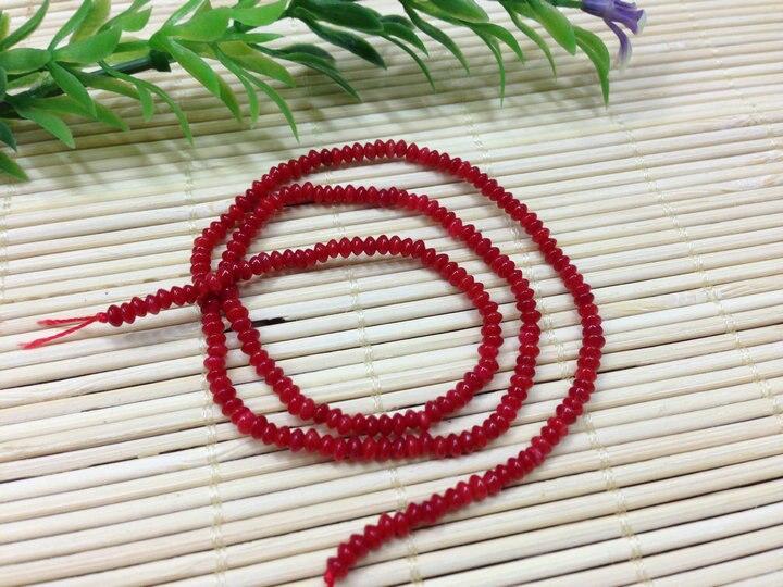 Красный коралл 2x3 мм крошечные Rondelle в форме летающей тарелки бусины 10 нитей в партии