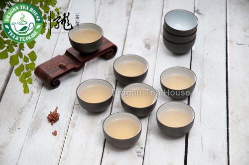 Yixing Clay Glazed Dark Brown Zisha Teacup 20ml 0 7oz 5Pcs