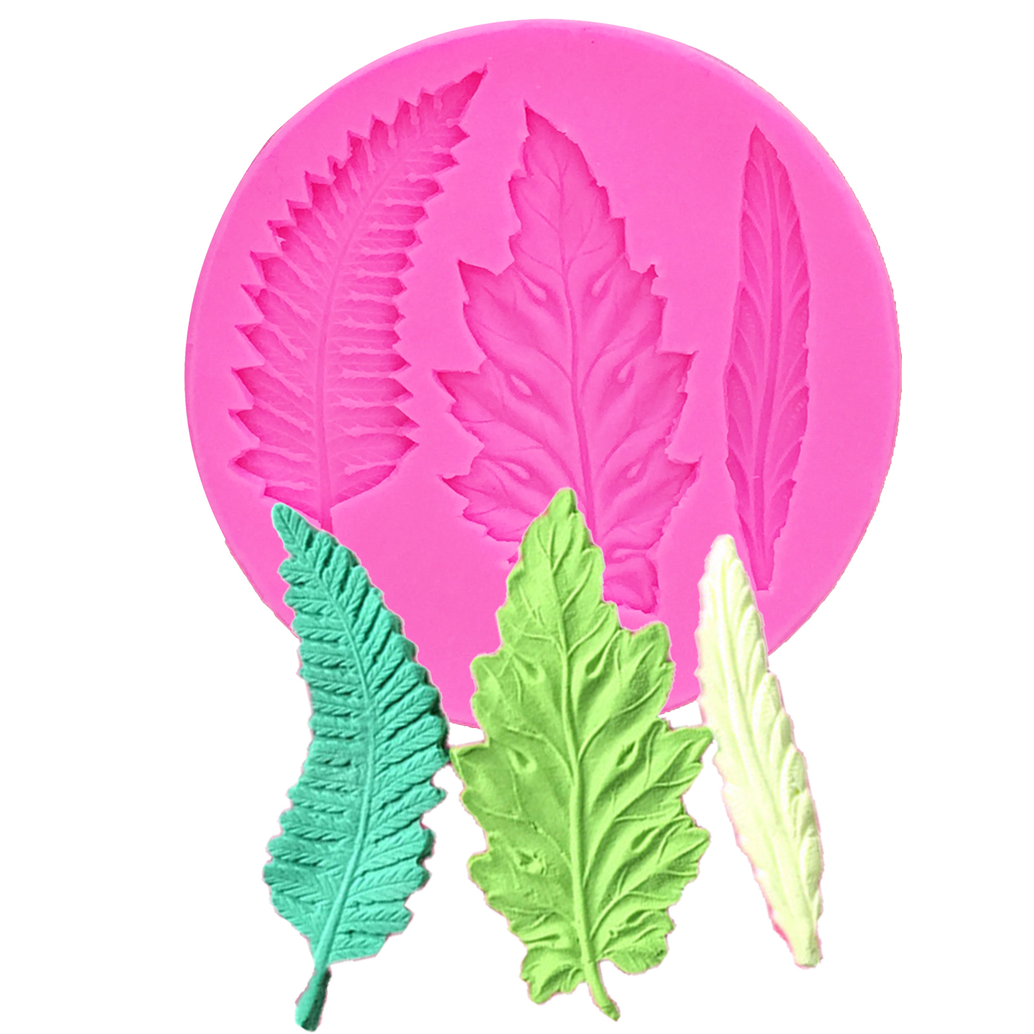 3D Tree Leaf Molds Sugarcraft Silicone Mold Turtle Leaf ...  Plane Tree Leaf Silicone Molds