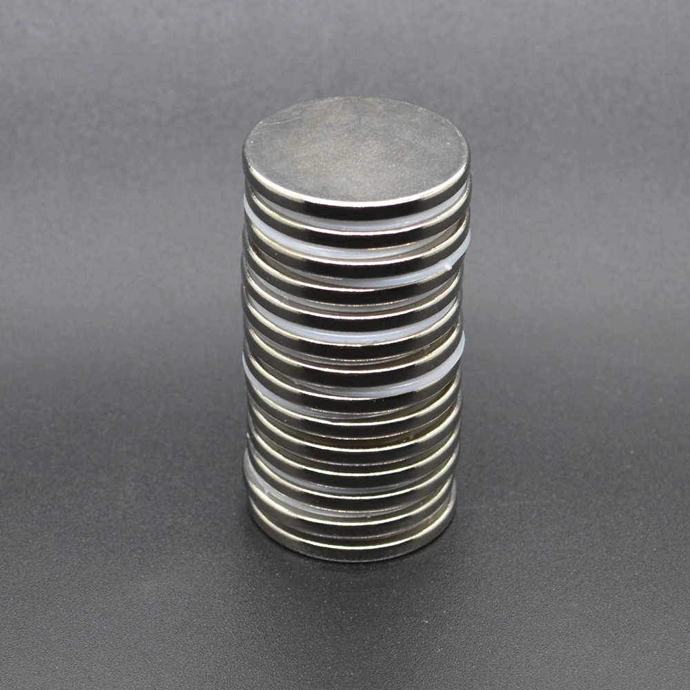Imán de neodimio 20 piezas de 30x3mm, imanes de neodimio de tierras raras de 30x3mm, imán redondo permanente de 30x3mm