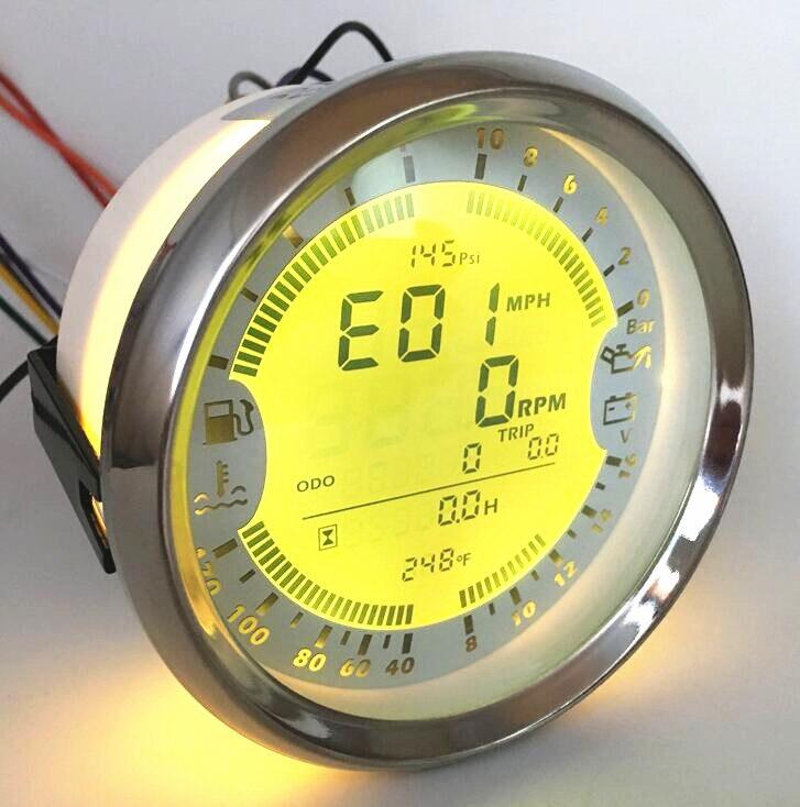 Набор из 1 многофункциональных датчиков тахометров 85 мм датчик топливного бака 0 10Bar датчик давления масла 8 16VDC измеритель температуры воды