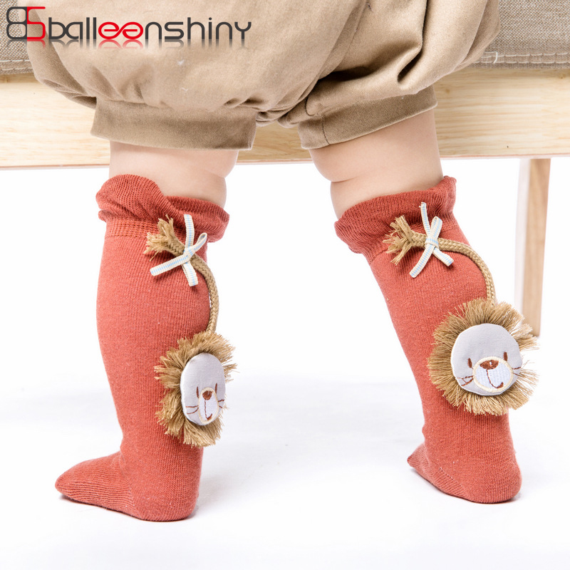 BalleenShiny New Style Baby Cartoon Knee-high Socks Cute Animal Lion Infant Comfortable Children Kids Boys Girls Cotton Hot SaleBalleenShiny New Style Baby Cartoon Knee-high Socks Cute Animal Lion Infant Comfortable Children Kids Boys Girls Cotton Hot Sale