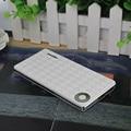 Ультра-тонкий Power Bank 10000 мАч Dual USB Портативный Внешний Аккумулятор Мобильный Резервного Копирования Полномочия с 1 м телефонный кабель